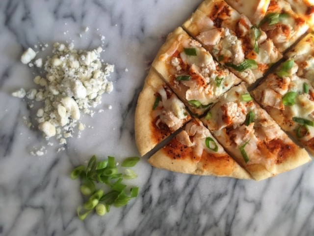 Recipe for Buffalo Chicken Flatbread