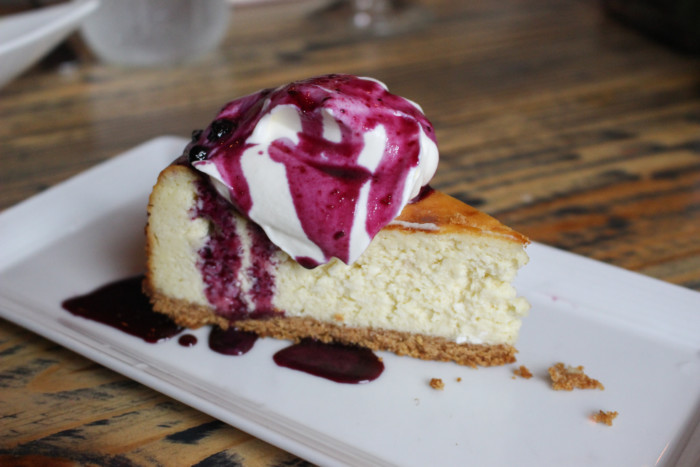 Eating With Erica Food & Fashion Soiree at Food 101 | Cheesecake with Blueberry Sauce