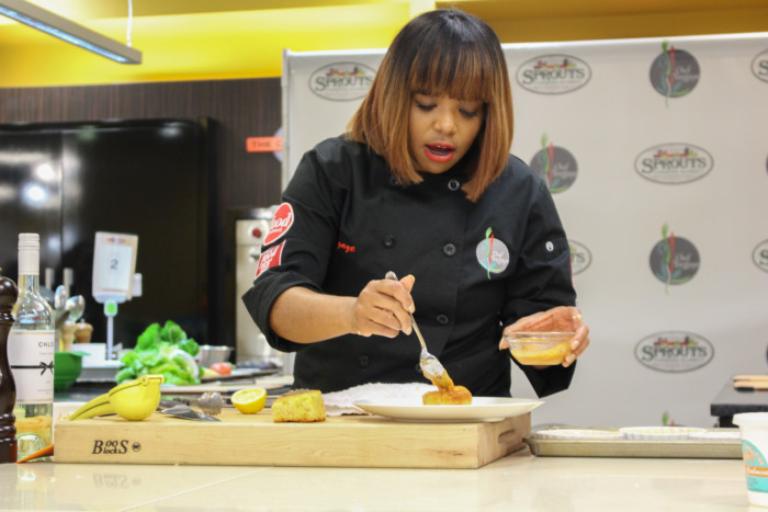Cooking With Sprouts Farmers Market & Food Network Star Chef Tregaye Fraser